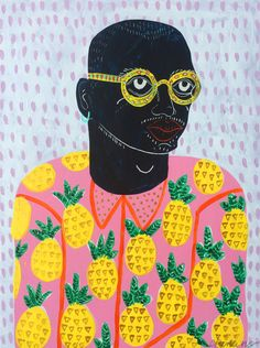 Camilla Perkins, 2016, Brighton Week 3 - gouache Love the stylisation of the image and bright colours. The print made from interesting shapes is appealing and very cool !