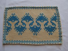 Vintage Pair Embroidered Doilies by VintageHomeStories on Etsy