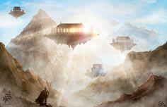 Until the Sky by Pistefix.deviantart.com on @DeviantArt  #digitalpainting #digitalart #portrait #fantasy #landscape #sky