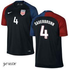 2016 Becky Sauerbrunn Youth Away Jersey #4 USA Soccer