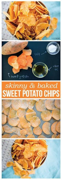Skinny Baked Sweet Potato Chips- Your new favorite snack! Per Serving: 4g C 0g P