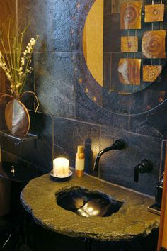 Definitivno prelepo kupatilo,. Ko ne bi poželeo ovakav lavabo i sve oko njega? http://www.krunaboje.com/sr #enterier #enterijer #interior #blue #plava #toalet #bathroom