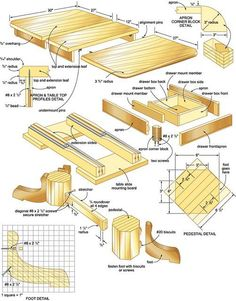 A good project will help you decide on what you want your finished table to look like. Such a plan will help you make decisions about the height, length and type of wood you will use. A good plan will also help you decide whether you want a stand table or one that has storage like a drawer or bottom rack. set of instructions here: http://book.workbenchplans2.com
