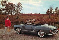 1962 Karmann-Ghia convertible....they were so damn cute..especially in red or yellow !