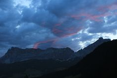 Dolomites at 6:00 a.m. in the morning