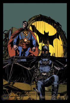 DC Comics steampunk Variant Covers | Batman/Superman #8 variant by Tommy Lee Edwards, Image via CBR