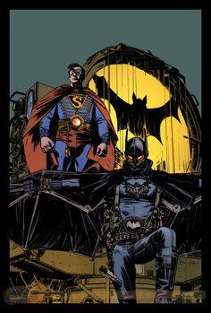 Batman/Superman #8 steampunk cover by Tommy Lee Edwards