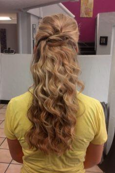 Wedding hair down- I think I'm digging the loose curls idea