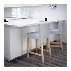 henriksdal tabouret de bar dossier ikea housse lavable en machine facile entretenir - Ikea Mange Debout1539