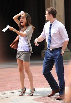 Justin Timerberlake with Mila Kunis on the set of Friends with Benefits wearing a Breitling Chronomat 44 B01 watch