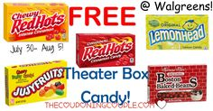 WOOHOO! What a great freebie! FREE THEATER BOX CANDY at Walgreens! 7/30-8/5! No coupons necessary!  Click the link below to get all of the details ► http://www.thecouponingcouple.com/theater-box-candy-for-only-0-50-walgreens/ #Coupons #Couponing #CouponCommunity  Visit us at http://www.thecouponingcouple.com for more great posts!
