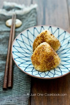 Yaki Onigiri | Grilled Rice Ball | JustOneCookbook.com Really good on the grill.  Can use miso instead of soy.
