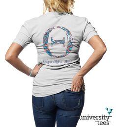 Love this patterned design for #Theta #KappaAlphaTheta #KAO #Sorority   Made by University Tees   www.universitytees.com