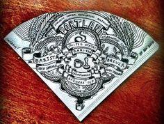 Gribouillages sur filtre à café par Ben Blake