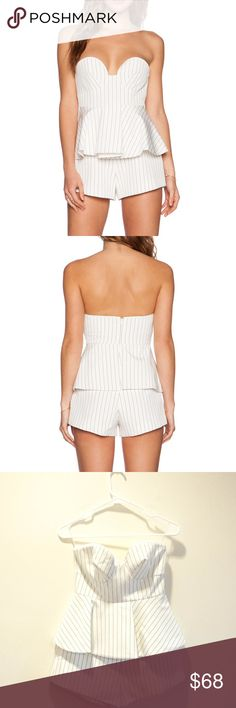 Finders Keepers Revelation Playsuit NWT Size Small Finders Keepers strapless bustier playsuit, new with tags, size small Finders Keepers Dresses