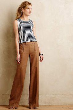 Elevenses tailored sailor pants, $118, Anthropologie