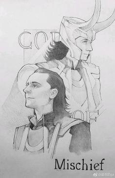 Marvel Drawing Credit to the artist Marvel Fan Art, Loki Thor, Loki Laufeyson, Marvel Avengers, Loki Aesthetic, Avengers Drawings, Loki Drawing, Loki Art, Arte Dc Comics