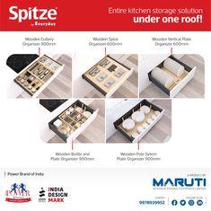 Sptize by Everyday aims to bring entire Wooden Kitchen Storage Solutions under one roof. #Spitze #SpitzebyEveryday #kitchenorganizer #spacesaver #kitchenstorage #woodnorganiser