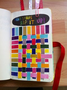 wreck this journal tear strips - Google Search