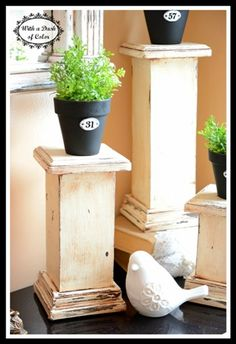 Column pedestals don't only look nice as an architectural feature, they also look good as decorative pieces in any living room--scaled to size, of course. Made to look like an antique, these pedest...