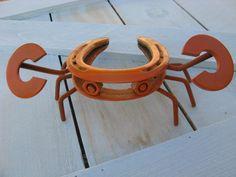 Recycled Horseshoe Crab  Orange Finish by willcapps on Etsy,