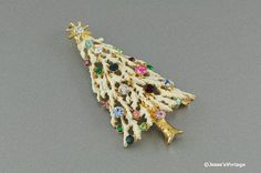 #Vintage #Christmas Pendant Multi Color Rhinestone by @JessesVintage, $7.45