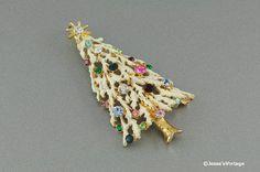 #Vintage #Christmas Pendant Multi Color Rhinestone by @JessesVintage, $7.45
