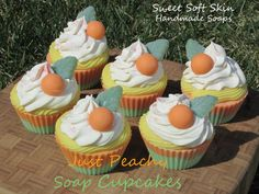 Just+Peachy+Soapy+Cupcakes+by+SweetSoftSkin+on+Etsy