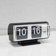 Twemco Retro Modern Germany Quartz Movement Flip Clock QT30T Black | eBay