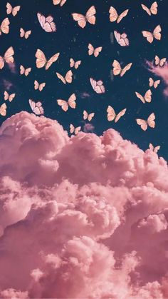 Butterfly Wallpaper Iphone, Phone Wallpaper Images, Iphone Wallpaper Tumblr Aesthetic, Trippy Wallpaper, Cloud Wallpaper, Cute Patterns Wallpaper, Iphone Background Wallpaper, Aesthetic Pastel Wallpaper, Retro Wallpaper