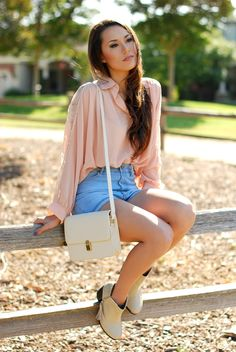 Hapa Time - a California fashion blog by Jessica - new fashion style - 2013 fashion trends: High Waisted Denim Shorts