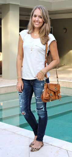 I will always love deconstructed jeans done right.