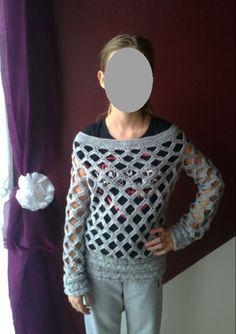 Háčkovaný svetr | PLETENÍ  A   HÁČKOVÁNÍ  S  POPISY