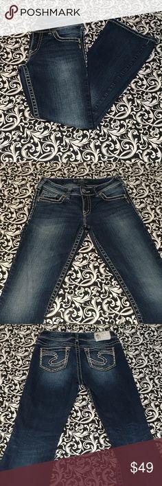 "Silver jeans Suki boot cut, size W26 L30. Silver jeans Suki boot cut, size W26 L30. Style # L9516SJB376. 13"" waist, 30"" inseam, 9"" rise. 99% cotton, 1% spandex. Silver Jeans Jeans Boot Cut"