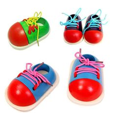 Cheap toy shelf, Buy Quality shoes de directly from China toy jack Suppliers: Baby Kids Montessori Educational Toys Children Wooden Toys Toddler Lacing Shoes Early Education Teaching Aids New