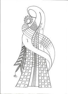 RODRIMAN ..... LRM --------------- Patrones comprados , regalados en encuentros y bajados de Internet . Hairpin Lace Crochet, Arte Linear, Bobbin Lacemaking, Parchment Cards, Lace Art, Bobbin Lace Patterns, Point Lace, Paper Embroidery, Lace Jewelry