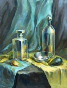 Pictures on request decorative still life - Pinom. Still Life Drawing, Painting Still Life, Gouache Painting, Painting & Drawing, Monochromatic Paintings, Still Life Artists, Academic Art, 3d Drawings, Beautiful Artwork