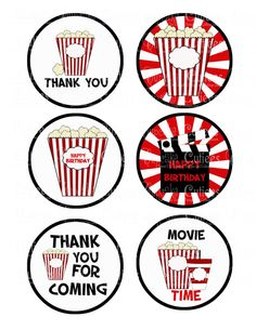 Movie Theater Ticket  Digital Large Round by CupcakeCutieesParty, $3.50 Kids Movie Party, Movie Theater Party, Movie Night Party, Family Movie Night, Hollywood Theme Classroom, Classroom Themes, Hollywood Red Carpet, Hollywood Party, Movie Themes