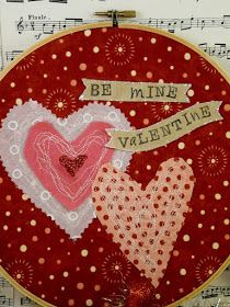 Hudson's Holidays - Designer Shirley Hudson: Fun Valentine Hoop art