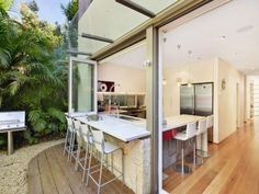 indoor outdoor dining works well in warm climates #dining