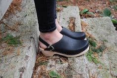 Torpatoffeln Classic Black Clogs with Moveable Strap