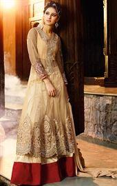 Picture of Luscious Beige Designer Salwar Kameez Online Shopping