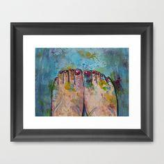 Artist Becomes Art Framed Art Print by Mike Brennan - $35.00