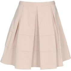 BLUGIRL BLUMARINE Knee length skirt (£205) ❤ liked on Polyvore featuring skirts, saias, bottoms, gonne, light pink, pink skirt, knee length skirts, a line skirt, knee length a line skirt and light pink skirt