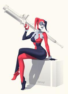 Comic Book Hero Harley Quinn by Dan Mora Batgirl, Catwoman, Supergirl, Dc Comics, Comics Girls, Marvel Dc, Dan Mora, Superman, Batman Vs