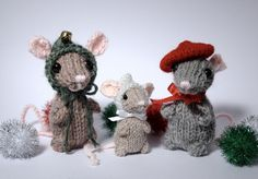Holiday Mice by fuzzymitten-free pattern