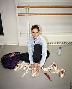 Darcey Bussell (Principle Dancer with The Royal Ballet) during rehearsals in London 2007.