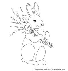 Easter Bunny Free online coloring pages for kids with a rich variety of colorful patterns, gradients, fabrics, papers and textures for hours of fun and creativity.: