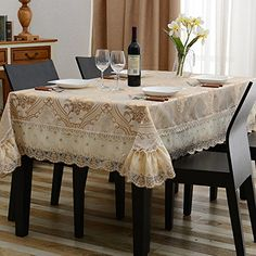European computerEmbroidered cotton fabrictablecloth round table