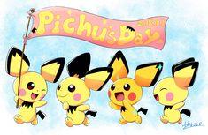 Pichu Pikachu Raichu, Cute Pokemon Pictures, Gold Pokemon, Band Merch, Cartoons, Gaming, Kawaii, Wallpapers, Random